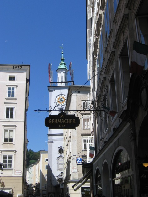Walking through Salzburg