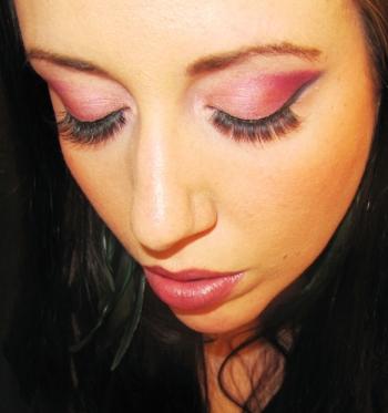 Dramatic Pink Makeup