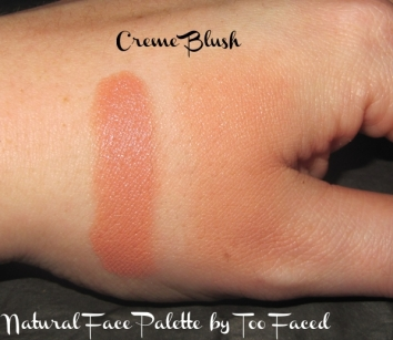swatch of Creme Blush and review