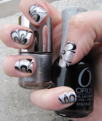 nail marbling