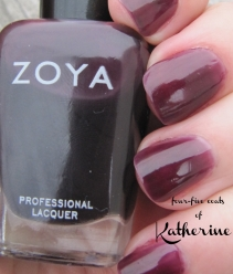 Katherine nail polish by Zoya - swatch and review