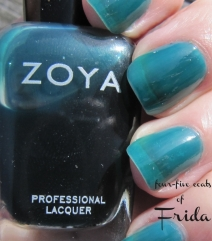 """Frida"" swatch - jelly nail polish by Zoya"