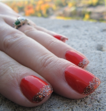 Festive Manicure, Halloween Nails, manicures for short nails