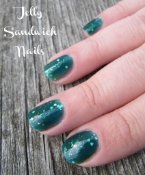 jelly sandwich manicure using Frida and Mermaid Tale