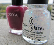 "Zoya's ""Paloma"" and China Glaze's ""Make a Spectacle"""