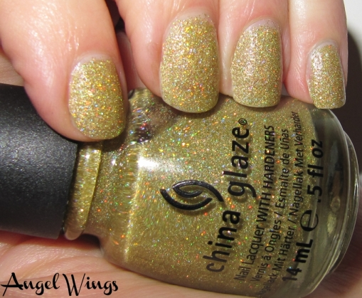 """Angel Wings"" swatch, China Glaze Holiday Joy 2012 Collection"