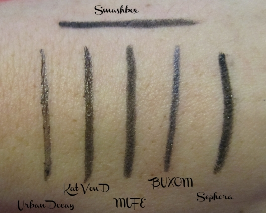 Black Eyeliner swatches