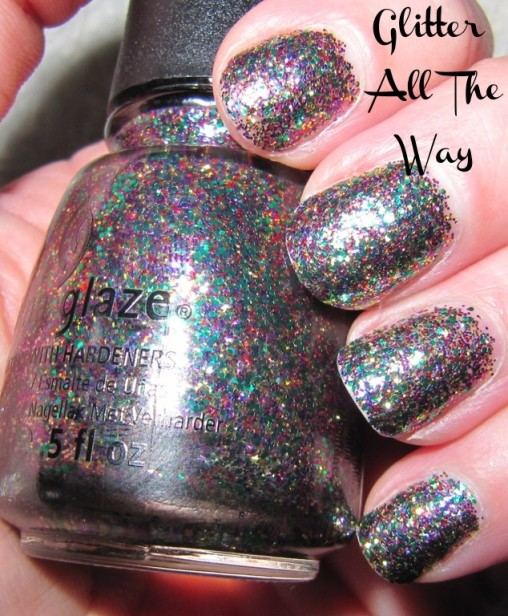 multi coloured nail polish (glitter)