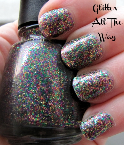 """Glitter All The Way"" nail polish swatch"