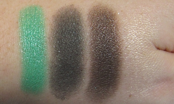 "Color Fever Eyeshadow swatches - ""Hyperreal Green Wood"""