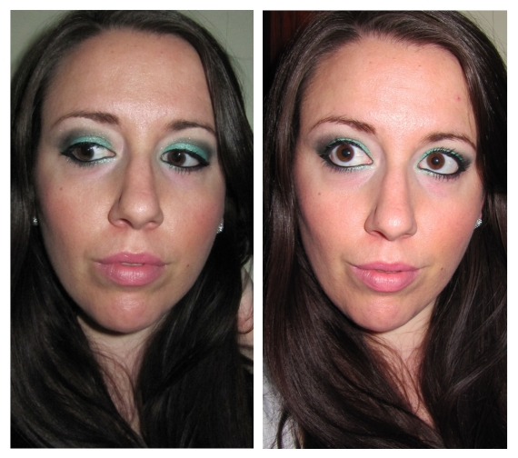 Hyperreal Green Wood makeup look by Kiko