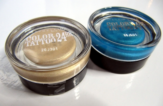24 hr Color Tattoo cream eye shadows