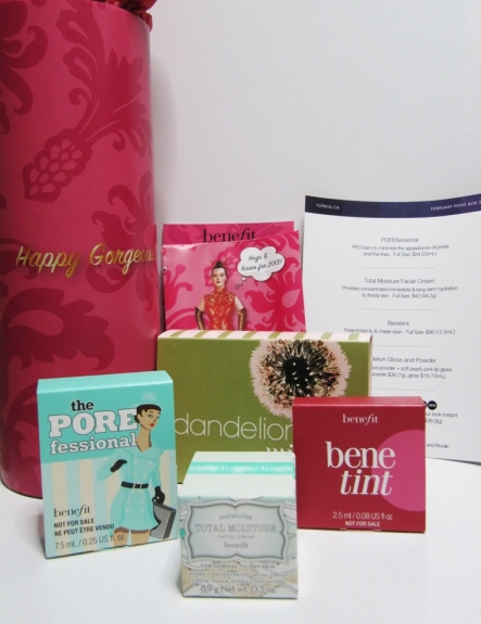benefit Cosmetics Topbox